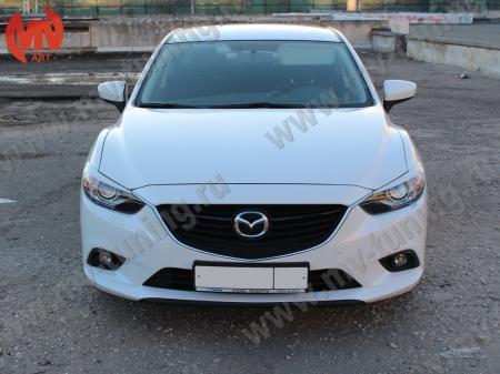 АБС-пластик Реснички на фары Mazda 6 2013- var№1